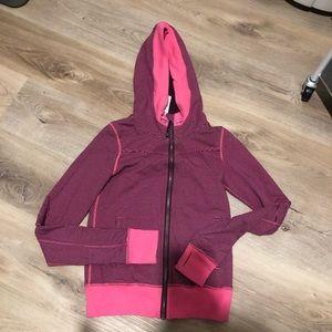 Lululemon Pink and Purple Striped Zip Up Hoodie 4